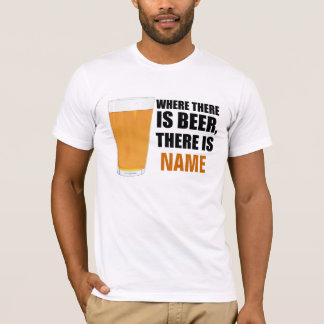 Where There is Beer Personalized Amer Apparel T-Shirt