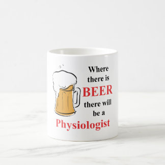 Where there is Beer - Physiologist Classic White Coffee Mug