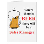 Where there is Beer - Sales Manager Cards
