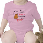 Where there is Beer - Snowplow Driver Romper