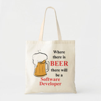 Where there is Beer - Software Developer Tote Bags