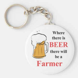 Where there is beer there is a farmer keychain
