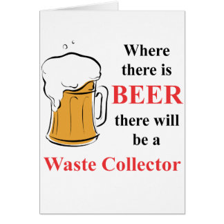 Where there is Beer - Waste Collector Cards
