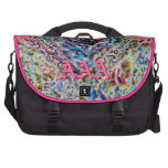 Where there is Pink Punk there is Pink Fire WORD Laptop Commuter Bag