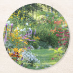 "Where Three Gardens Meet, disposable Round Paper Coaster<br><div class=""desc"">Where Three Gardens Meet,  PhotOriginal.  PhotOriginals are photos from my beautiful Bear River northern Minnesota secret country cottage gardens.  Geometric patterns are all derived from PhotOriginals.  They are unique designs,  not sold through mass markets.  They are named,  labeled and available individually and in sets.  https://www.facebook.com/GHSNorthernGardens/ and http://www.ghsnortherngardens.com/ and https://www.zazzle.com/photoriginalsbyghs/product</div>"