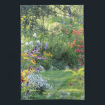 """Where Three Gardens Meet Kitchen Towel<br><div class=""""desc"""">Where Three Gardens Meet,  PhotOriginal.  PhotOriginals are photos from my beautiful Bear River northern Minnesota secret country cottage gardens.  Geometric patterns are all derived from PhotOriginals.  They are unique designs,  not sold through mass markets.  They are named,  labeled and available individually and in sets.  https://www.facebook.com/GHSNorthernGardens/ and http://www.ghsnortherngardens.com/ and https://www.zazzle.com/photoriginalsbyghs/products</div>"""