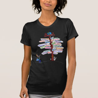 Where To Go? Road Signs T-Shirt Customizable