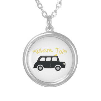 Where To? Round Pendant Necklace