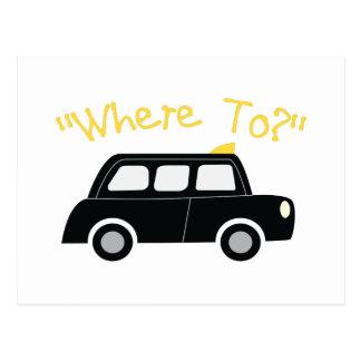 Where To? Postcard