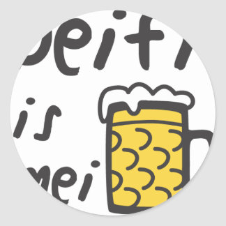Where to the Deifi is mei Bia Classic Round Sticker