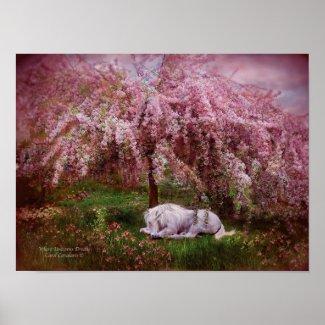Where Unicorn's Dream Art Poster/Print