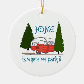 Where We Park It Ceramic Ornament