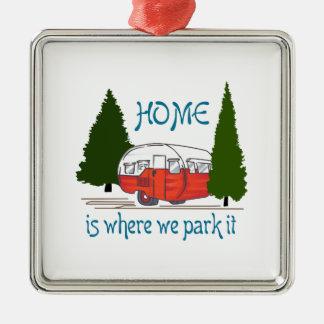 Where We Park It Metal Ornament