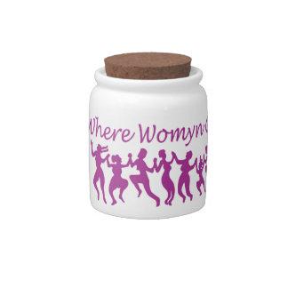 Where Womyn Gather jar Candy Jars