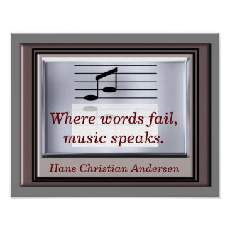 Where word fail -- Music quote - art print