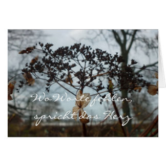 Where words are missing - to condolence map greeting card