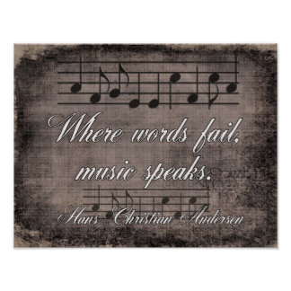 Where Words Fail -- Music Quote - Print