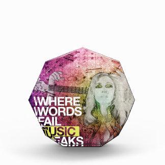 Where Words Fail Music Speaks Acrylic Award