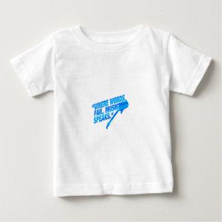 Where words fail, music speaks - blue baby T-Shirt