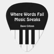 Where Words Fail, Music Speaks Plectrum 2 Pick at Zazzle