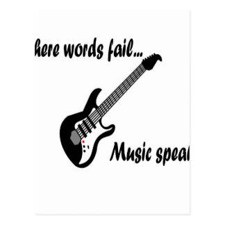 Where Words Fail, Music Speaks Postcard