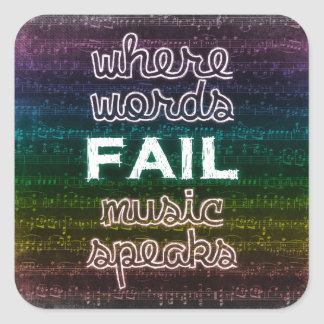 Where Words Fail, Music Speaks Stickers