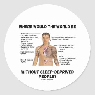 Where Would The World Be Without Sleep-Deprived Sticker