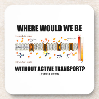 Where Would We Be Without Active Transport? Beverage Coasters