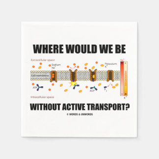 Where Would We Be Without Active Transport? Paper Napkin