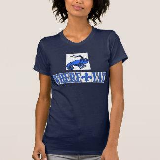 Where Yat Fleur Blue Letter Tiles, Crawfish T-Shirt