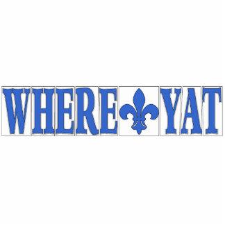 Where Yat Fleur Blue Letter Tiles Cut Outs