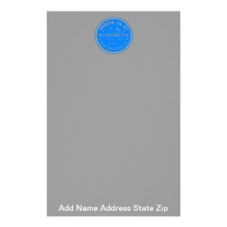 Where Yat  New Orleans Water Meter Cover Blue, ... Stationery