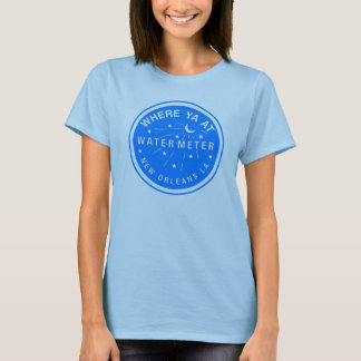 Where Yat  New Orleans Water Meter Cover Blue T-Shirt