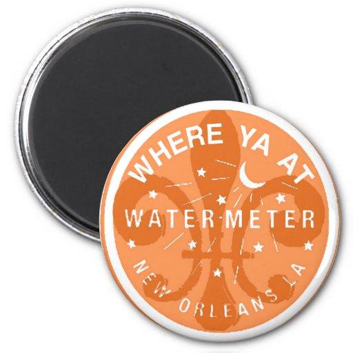 Where Yat Water Meter Fleur De Lid 2 Inch Round Magnet