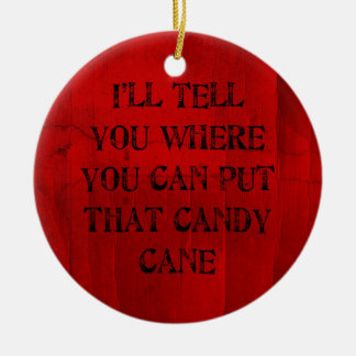 Where You Can Put That Candy Cane Ceramic Ornament