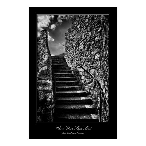Where Your Steps Lead, Fine Art gallery-style Poster