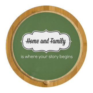 Where Your Story Begins Cheese Board Round Cheeseboard