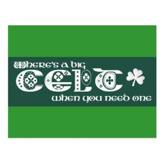 Where's a Celt? Postcard
