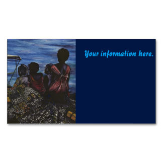 Where's Daddy? Harbor Island Magnetic Business Card