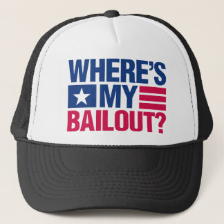 Wheres My Bailout - Red and Blue Trucker Hat