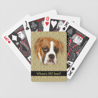 Where's MY Beer? Poker Night Dog Playing Cards