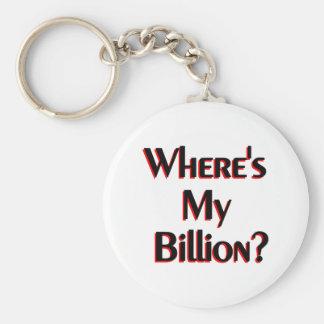 Where's My Billion? Keychain