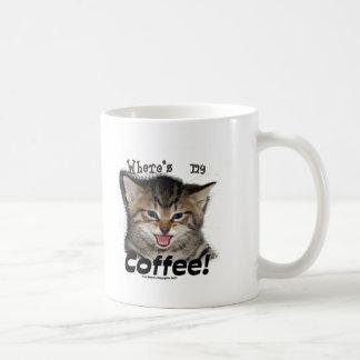 Where's my Coffee Cat Coffee Mugs