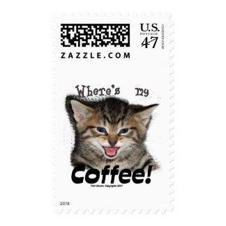 Where's my Coffee Cat Postage