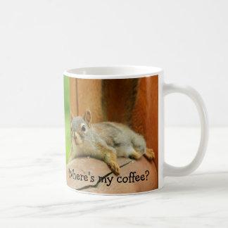 Where's my coffee? classic white coffee mug
