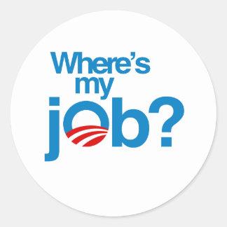 Where's my job classic round sticker