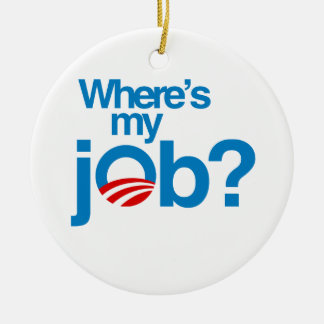 Where's my job christmas tree ornament