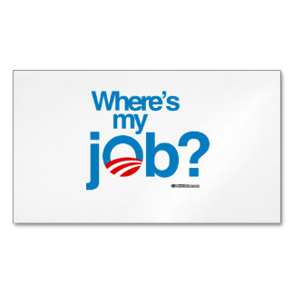 Where's my job magnetic business cards (Pack of 25)