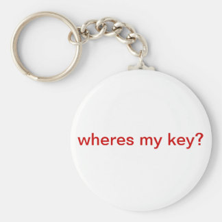 wheres my key? basic round button keychain