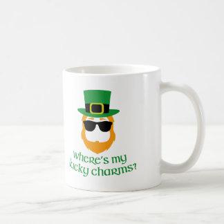 Where's My Lucky Charms? St Patrick Day Leprechaun Coffee Mug